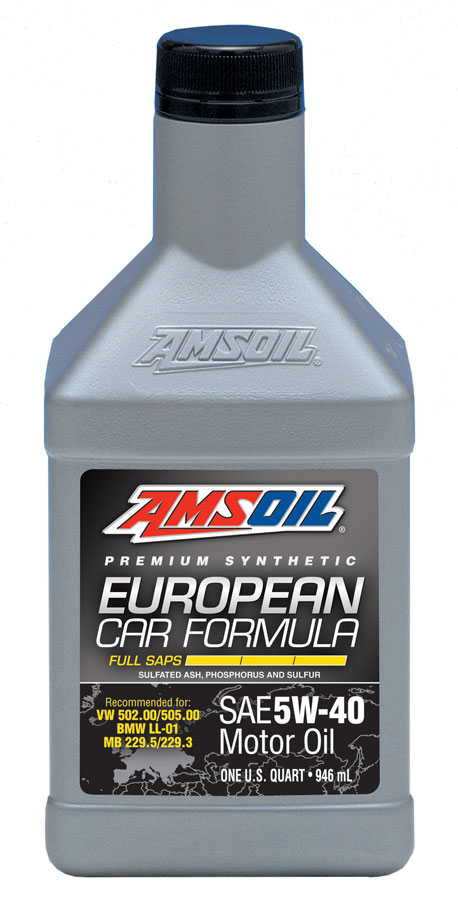 amsoil full saps 5w 40 european synthetic motor oil efm