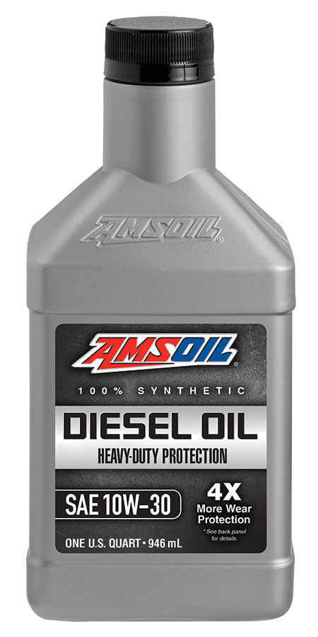 Amsoil heavy duty synthetic ck 4 diesel oil 10w 30 adn for Synthetic motor oil test