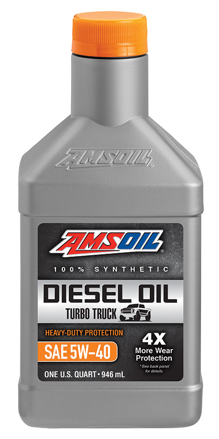 Amsoil heavy duty synthetic ck 4 diesel oil 5w 40 ado for Synthetic motor oil for diesel engines