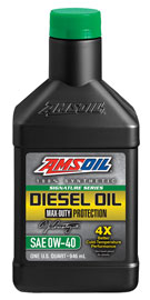 Signature Series Max-Duty Synthetic CK-4 Diesel Oil 0W-40 (DZF)