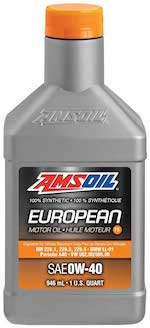 European Car Formula 0W-40 Classic Emissions System Protection Synthetic Oil