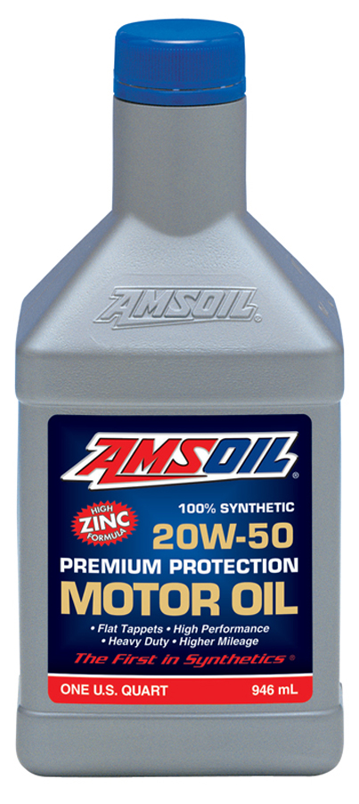 amsoil 20w 50 premium protection motor oil aro